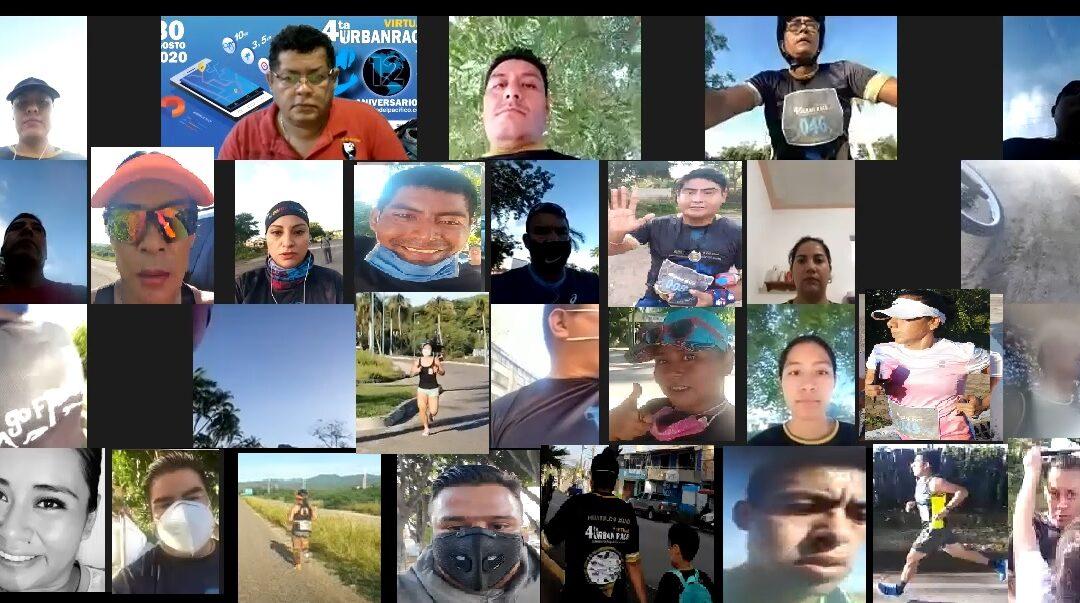 Se realizó la 4° Carrera Urban Race Virtual Huatulco 2020