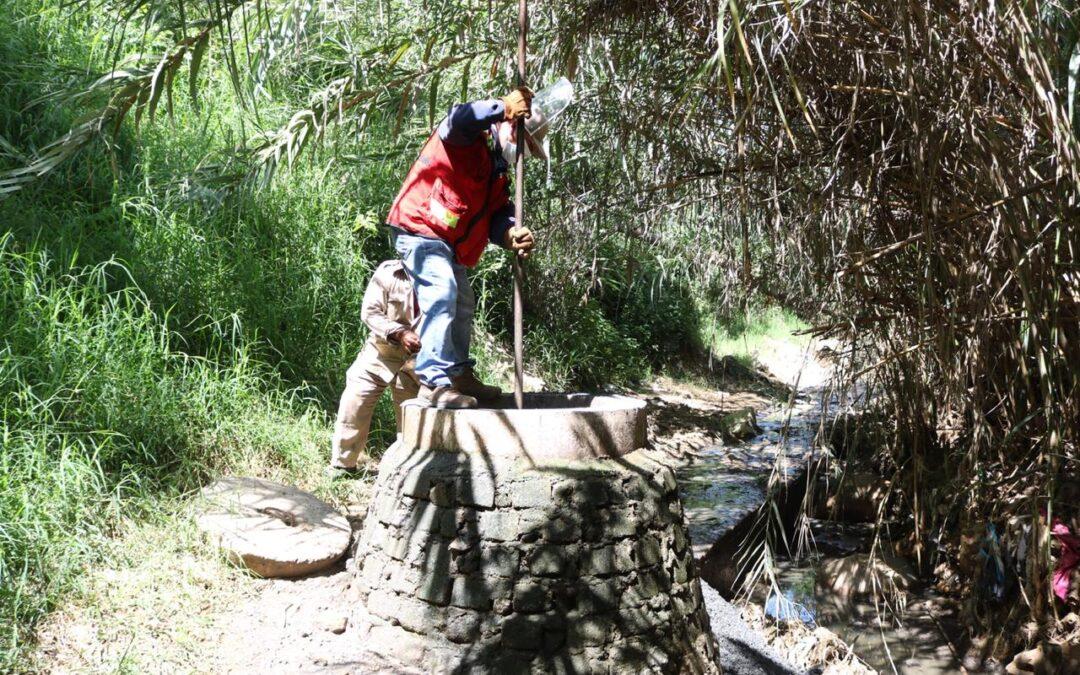 Continúan labores de desazolve en red de drenaje sanitario del Fraccionamiento Lomas de la Cascada