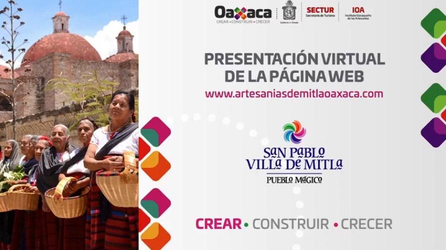 Sectur Oaxaca y San Pablo Villa de Mitla presentan sitio online de artesanías