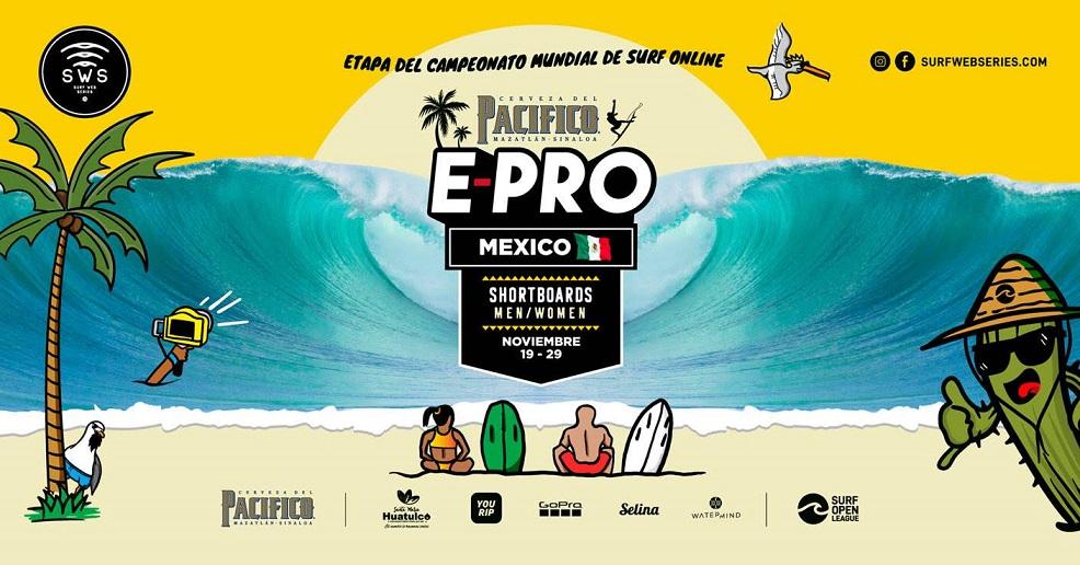 Comienza pacifico e-pro México, quinta etapa del campeonato mundial de surf online