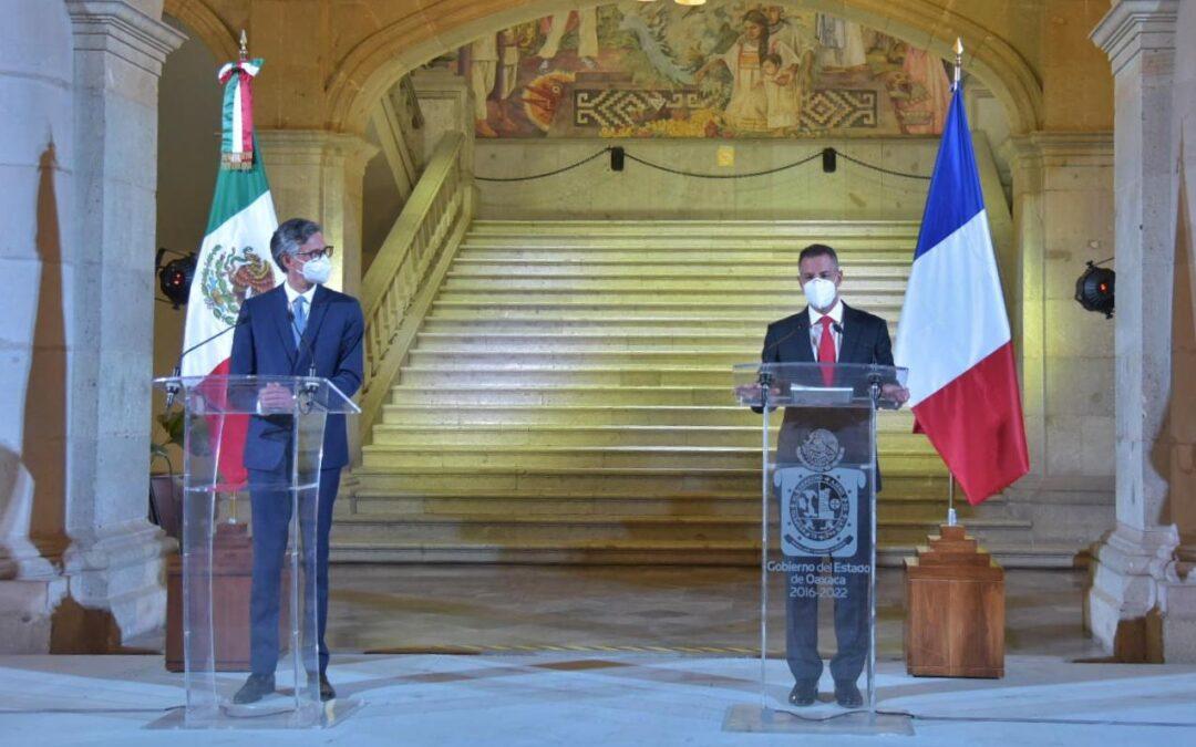 Oaxaca y Francia inauguran una nueva era  de cooperación y hermanamiento