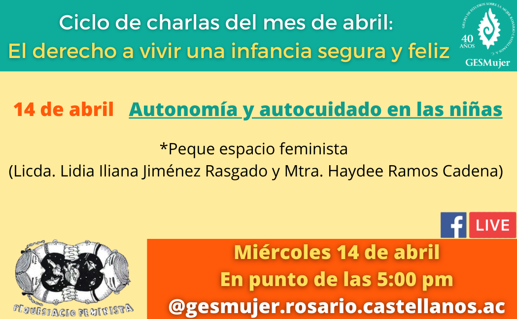 El GESMujer invita a fomentar la autonomía y autocuidado de las niñas.