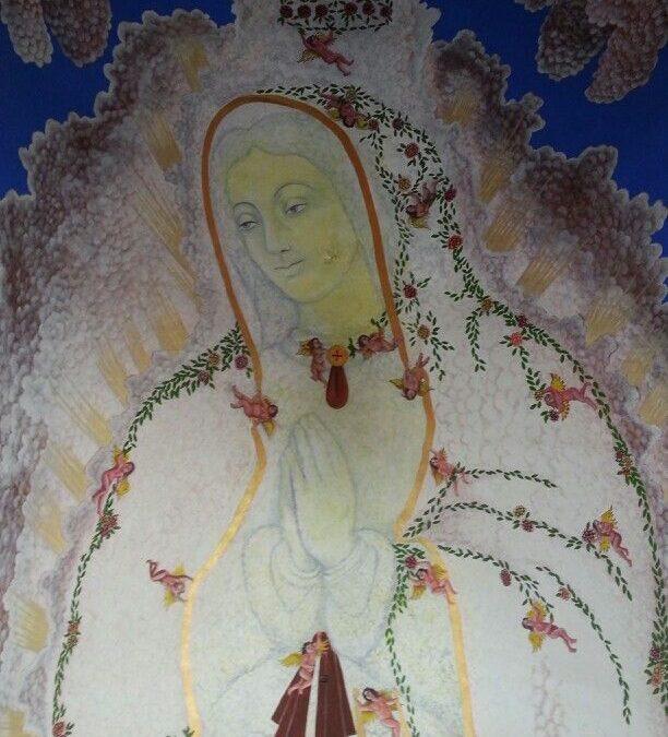 25 años del inicio del proyecto mural Homenaje a la Virgen de Guadalupe según la cosmovisión del S. XVI.
