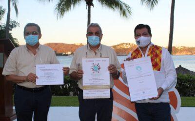 RECIBIO HOTEL DE HUATULCO CERTIFICACIONES PARA MAYOR SEGURIDAD Y CONFIANZA DE LOS TURISTAS.