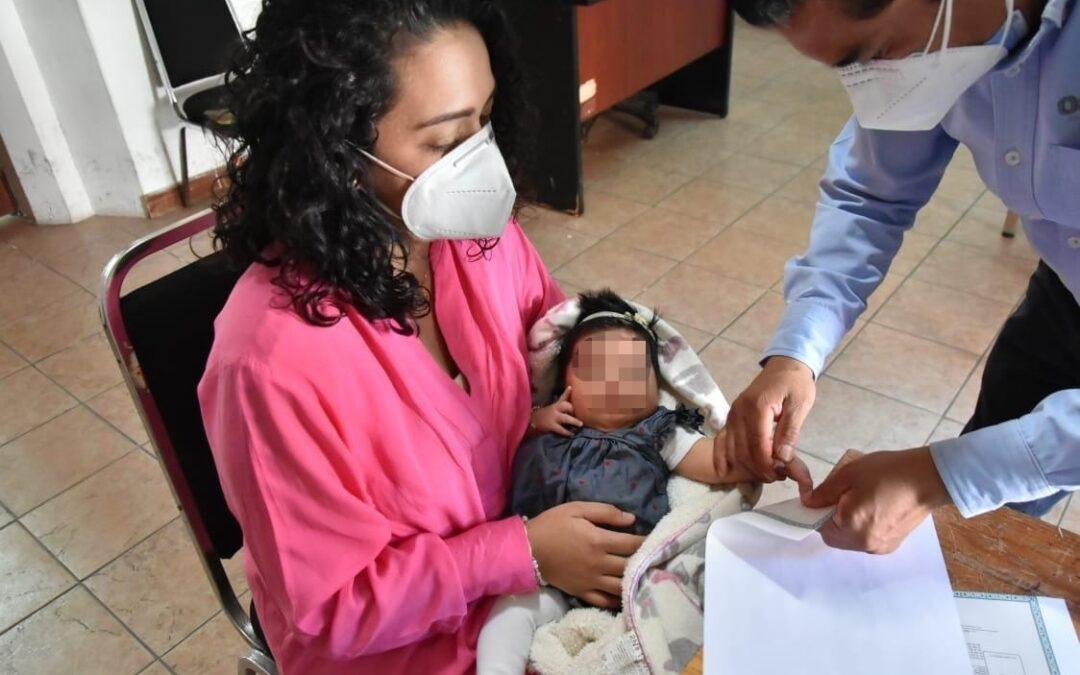 Más de 74 mil nuevos oaxaqueños ya tienen su acta de nacimiento: Registro Civil