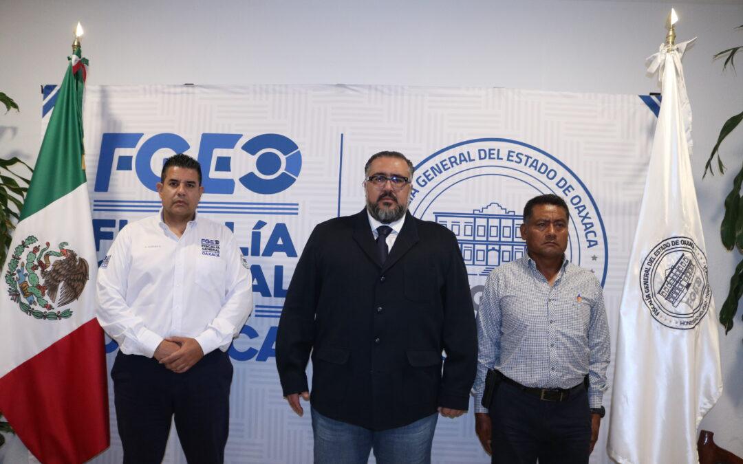 Designa Fiscal General a Francisco Joel Ginez Morales como nuevo Director de Investigaciones de la Agencia Estatal de Investigaciones