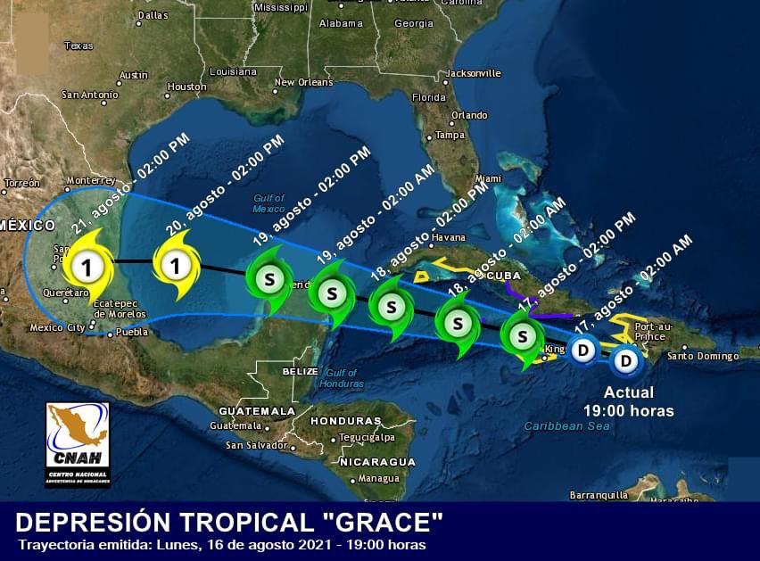 #Grace amenaza con convertirse en huracán en su avance hacia la Península de Yucatán