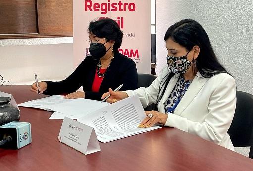 Establece IOAM y Registro Civil convenio de colaboración a favor de la comunidad migrante oaxaqueña