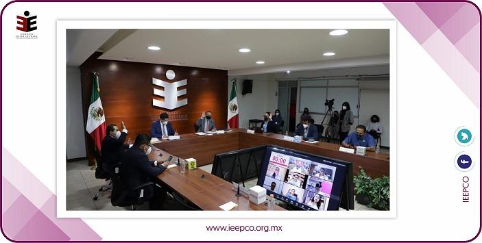 Aprueba IEEPCO convocatorias para partidos políticos y candidaturas independientes