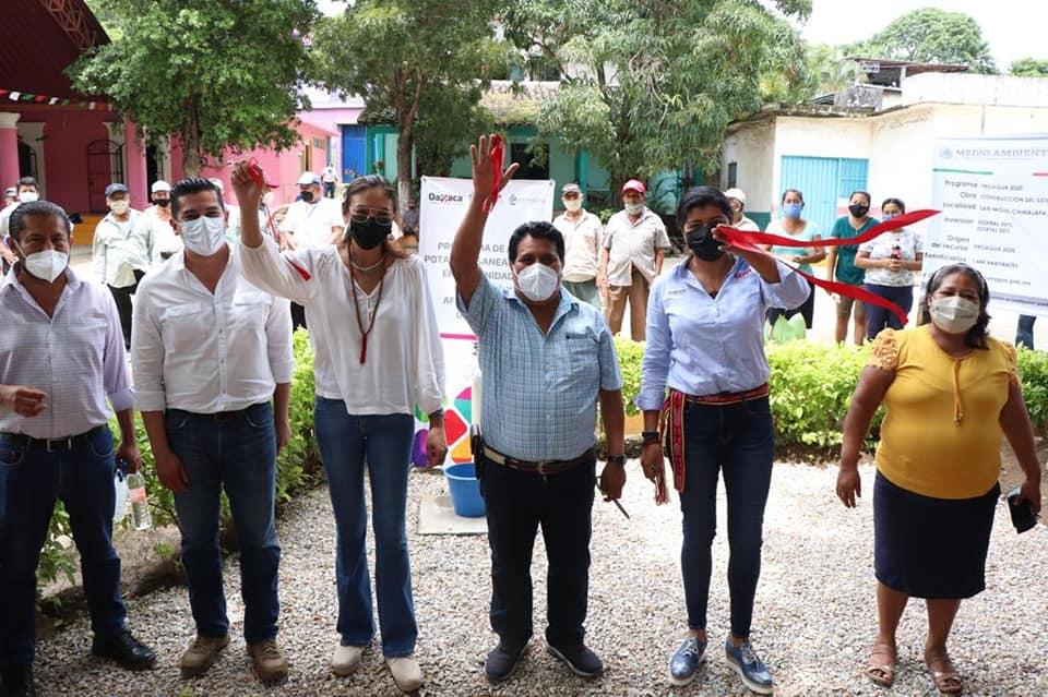 Inaugura Sepia red y ampliación del Sistema de Agua Potableen San Miguel Chimalapa